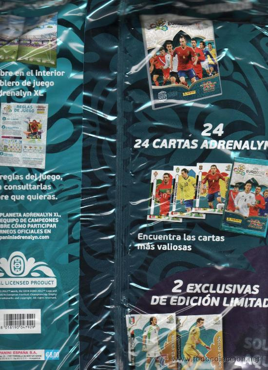 Coleccionismo deportivo: ALBUM UEFA EURO 2012 ADRENALYN TRADING CARDS- PANINI (PRECINTADO) - Foto 2 - 34981436