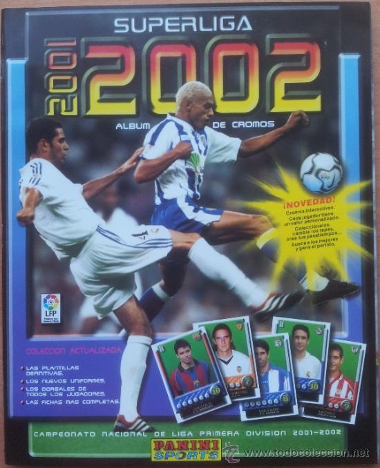 ALBUM CROMOS VACIO PLANCHA PANINI SUPERLIGA 2001/2002 NUEVO LIGA 01-02 - (Coleccionismo Deportivo - Álbumes y Cromos de Deportes - Álbumes de Fútbol Incompletos)