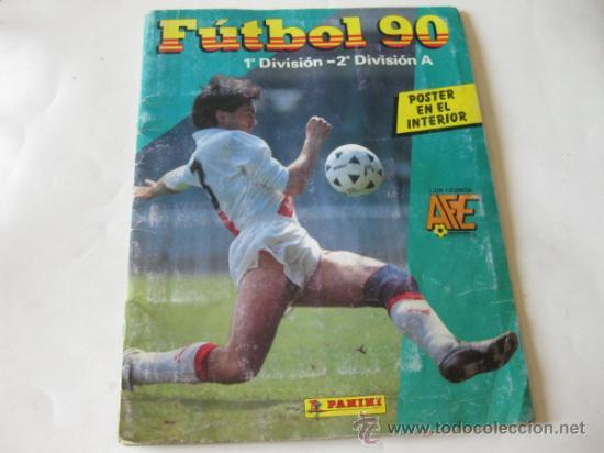 ALBUM DE CROMOS PANINI - FUTBOL 90 - 1ª Y 2ª DIVISION A (Coleccionismo Deportivo - Álbumes y Cromos de Deportes - Álbumes de Fútbol Incompletos)