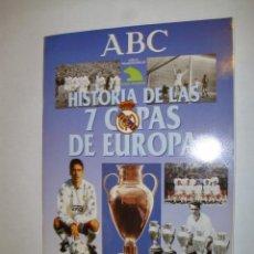 Coleccionismo deportivo: ALBUM INCOMPLETO REAL MADRID HISTORIA 7 COPAS DE EUROPA PERIODICO ABC - FX. Lote 35840781