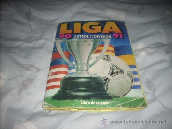 ALBUM DE LA LIGA 1990-91 DE ESTE (Coleccionismo Deportivo - Álbumes y Cromos de Deportes - Álbumes de Fútbol Incompletos)