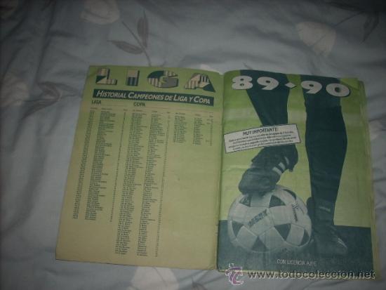 Coleccionismo deportivo: ALBUM DE LA LIGA 1989-90 DE ESTE CON CROMOS BUENOS - Foto 2 - 36618228