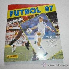 Coleccionismo deportivo: ALBUM DE CROMOS FUTBOL 87 FALTAN 108 DE 377. Lote 37221079
