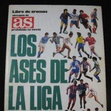 Coleccionismo deportivo: ALBUM LOS ASES DE LA LIGA 87/88 CON 44 CROMOS. Lote 37570186