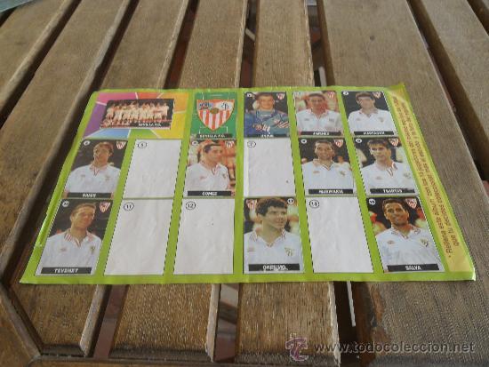 ALBUM DEL CHICLE LA LIGA DE LAS ESTRELLAS 1996 1997 96 97 SEVILLA (Coleccionismo Deportivo - Álbumes y Cromos de Deportes - Álbumes de Fútbol Incompletos)