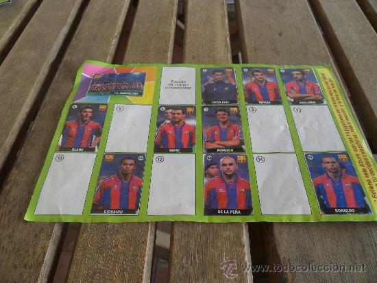 ALBUM DEL CHICLE LA LIGA DE LAS ESTRELLAS 1996 1997 96 97 BARCELONA (Coleccionismo Deportivo - Álbumes y Cromos de Deportes - Álbumes de Fútbol Incompletos)