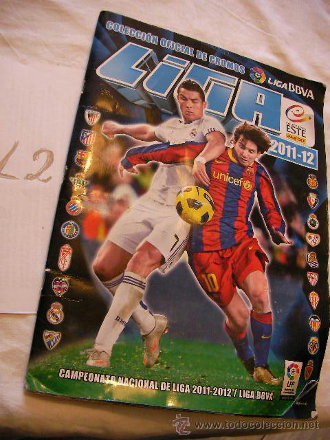 LIGA ESTE BBVA 2011-2012 (Coleccionismo Deportivo - Álbumes y Cromos de Deportes - Álbumes de Fútbol Incompletos)