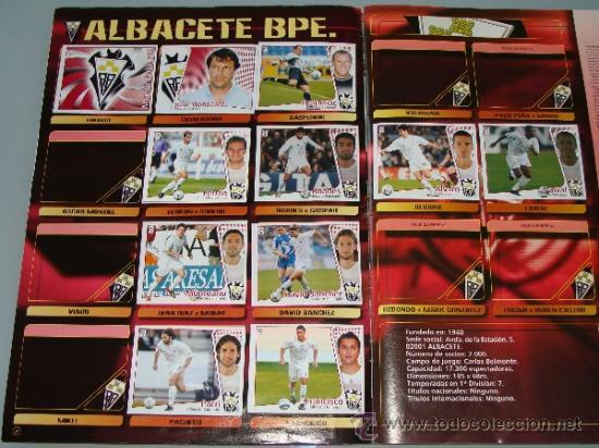 Coleccionismo deportivo: ÁLBUM DE CROMOS DE FÚTBOL. LIGA 04 05 2004 2005. EDICIONES ESTE. INCLUYE 285 CROMOS. - Foto 2 - 37824273