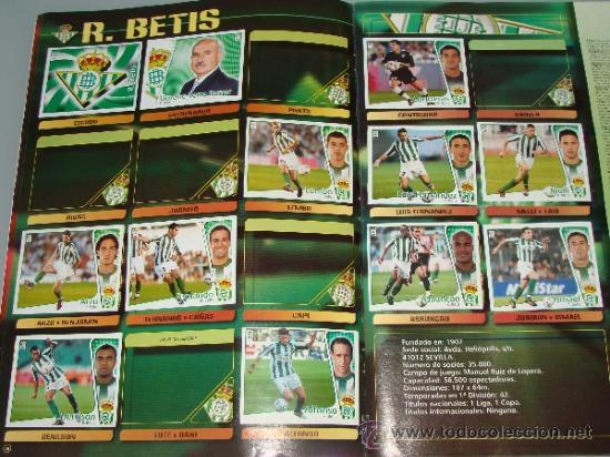 Coleccionismo deportivo: ÁLBUM DE CROMOS DE FÚTBOL. LIGA 04 05 2004 2005. EDICIONES ESTE. INCLUYE 285 CROMOS. - Foto 6 - 37824273