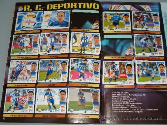 Coleccionismo deportivo: ÁLBUM DE CROMOS DE FÚTBOL. LIGA 04 05 2004 2005. EDICIONES ESTE. INCLUYE 285 CROMOS. - Foto 7 - 37824273