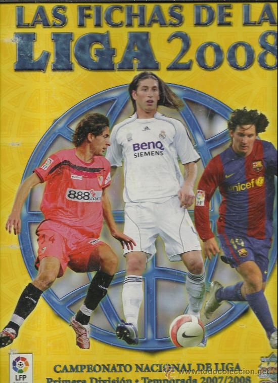 ALBUM DE LAS FICHAS DE LA LIGA DE 2008 CON 550 FICHAS (Coleccionismo Deportivo - Álbumes y Cromos de Deportes - Álbumes de Fútbol Incompletos)