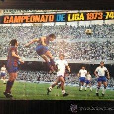 Coleccionismo deportivo: ALBUM CAMPEONATO DE LIGA 1973-74 ED. FHER - DISGRA COMPLETO 304 CROMOS CON POSTER 23 DE 36. Lote 38169494