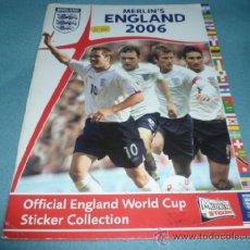 Coleccionismo deportivo: ALBUM VACIO ENGLAND WORLD CUP 2006 - MERLIN'S - TOPPS - . Lote 68987415