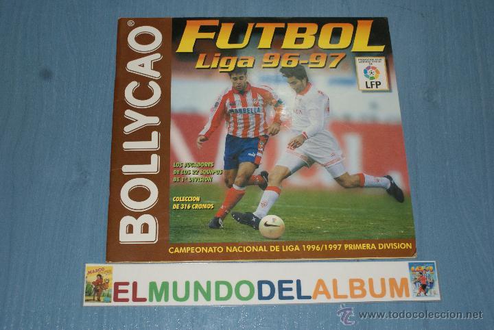 ALBUM INCOMPLETO DE FUTBOL LIGA 1996-1997/96-97 DE BOLLYCAO (Coleccionismo Deportivo - Álbumes y Cromos de Deportes - Álbumes de Fútbol Incompletos)