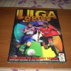 Coleccionismo deportivo: ALBUM DE LA LIGA 1998-99 DE ESTE CON MUCHISIMOS CROMOS DOBLES. Lote 39479066