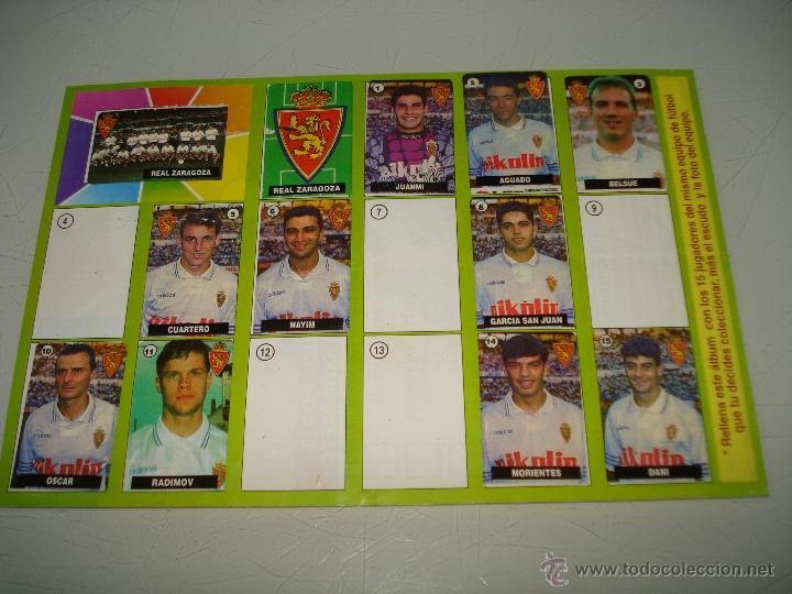 ALBUM CROMOS DEL CHICLE DE LA LIGA DE LAS ESTRELLAS CON EL ZARAGOZA CAMPEONATO DE LIGA 1996-1997 (Coleccionismo Deportivo - Álbumes y Cromos de Deportes - Álbumes de Fútbol Incompletos)