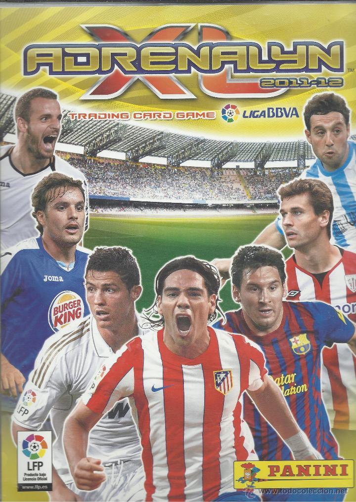 ALBUM CON 434 CARTAS ADRENALYN 2011-12 TRADING CARD GAME PANINI MUY COMPLETO (Coleccionismo Deportivo - Álbumes y Cromos de Deportes - Álbumes de Fútbol Incompletos)
