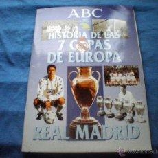 Coleccionismo deportivo: ALBUM ABC REAL MADRID HISTORIA 7 COPAS DE EUROPA 1998 (FALTAN 3 CROMOS). Lote 39879276