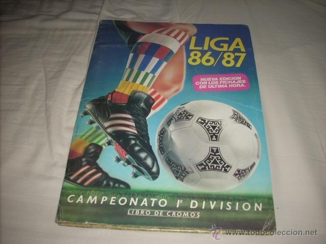 ALBUM DE LA LIGA 1986-87 DE ESTE ,OJO ULTIMA EDICION ACTUALIZADA (Coleccionismo Deportivo - Álbumes y Cromos de Deportes - Álbumes de Fútbol Incompletos)