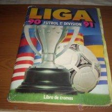 Coleccionismo deportivo: ALBUM DE LA LIGA 1990-91 DE ESTE CASI COMPLETO. Lote 39965157