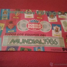 Coleccionismo deportivo: ALBUM DE CROMOS FUTBOL MUNDIAL MEXICO 86 1986 PEGATINAS CHICLE DUBBLE BUBBLE FLEER GUM DIFICIL RARO. Lote 40305506