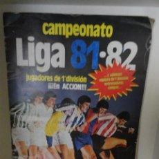 Coleccionismo deportivo: ALBUM CAMPEONATO LIGA 81-82 INCOMPLETO VER FOTOS ALBUM CON USO. Lote 40408396