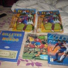 Coleccionismo deportivo: LOTAZO DE ALBUMES DE FUTBOL Y DE REGALO OTRO DE BILLETES DEL MUNDO. Lote 40482109