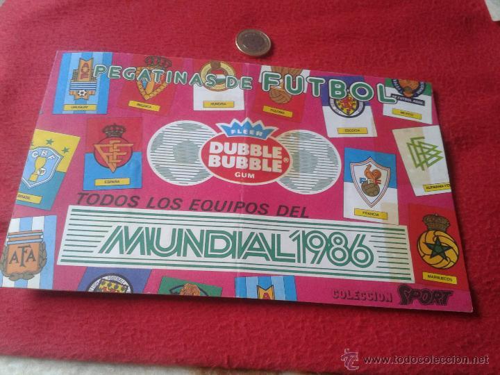 ALBUM DE CROMOS FUTBOL MUNDIAL MEXICO 1986 PEGATINAS CHICLE DUBBLE BUBBLE FLEER GUM MUY DIFICIL RARO (Coleccionismo Deportivo - Álbumes y Cromos de Deportes - Álbumes de Fútbol Incompletos)