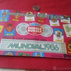 Coleccionismo deportivo: ALBUM DE CROMOS FUTBOL MUNDIAL MEXICO 1986 PEGATINAS CHICLE DUBBLE BUBBLE FLEER GUM MUY DIFICIL RARO. Lote 40728376