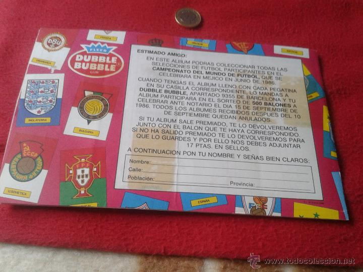 Coleccionismo deportivo: ALBUM DE CROMOS FUTBOL MUNDIAL MEXICO 1986 PEGATINAS CHICLE DUBBLE BUBBLE FLEER GUM MUY DIFICIL RARO - Foto 6 - 40728376