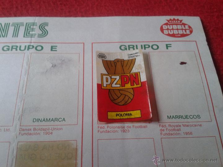 Coleccionismo deportivo: ALBUM DE CROMOS FUTBOL MUNDIAL MEXICO 1986 PEGATINAS CHICLE DUBBLE BUBBLE FLEER GUM MUY DIFICIL RARO - Foto 7 - 40728376