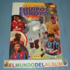 Coleccionismo deportivo: ALBUM INCOMPLETO DE FUTBOL DE LOS MEJORES EQUIPOS DE EUROPA 1996-1997/96-97. Lote 40790394