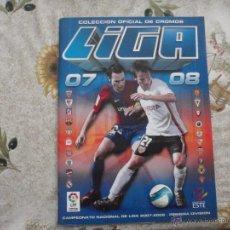 Coleccionismo deportivo: ALBUM DE CROMOS DE FÚTBOL EDICIONES ESTE 2007-08.. Lote 40880915