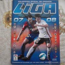 Coleccionismo deportivo: ALBUM DE CROMOS DE FÚTBOL EDICIONES ESTE 2007-08.. Lote 40880953
