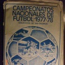Coleccionismo deportivo: CAMPEONATOS NACIONALES DE FUTBOL 1977-78 - RUIZ ROMERO. Lote 41071022