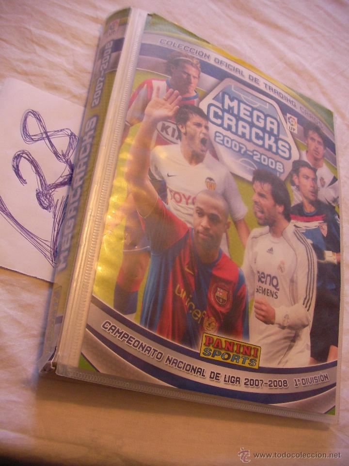 ALBUM MEGA CRACKS 2007-2008 CON UNOS POCOS CROMOS (Coleccionismo Deportivo - Álbumes y Cromos de Deportes - Álbumes de Fútbol Incompletos)