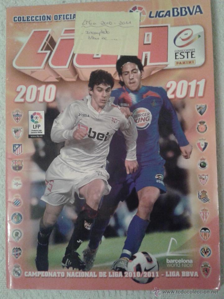 ALBUM DE CROMOS FUTBOL LIGA 2010-2011. COLECCIONES ESTE (Coleccionismo Deportivo - Álbumes y Cromos de Deportes - Álbumes de Fútbol Incompletos)