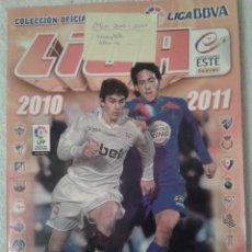 Coleccionismo deportivo: ALBUM DE CROMOS FUTBOL LIGA 2010-2011. COLECCIONES ESTE. Lote 41507070
