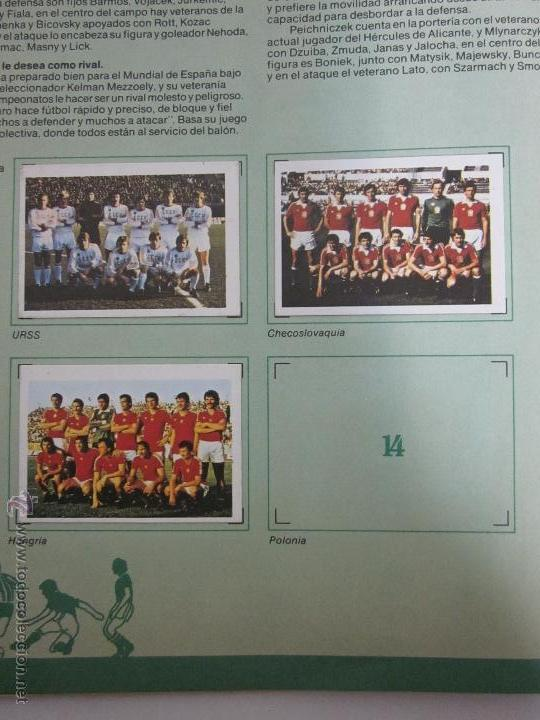 Coleccionismo deportivo: EL MUNDIAL DE ESPAÑA - ALBUM INCOMPLETO FALTAN 4 CROMOS - PUBLICIDAD MARGARINA ARTUA- (ALB-71) - Foto 5 - 41514393