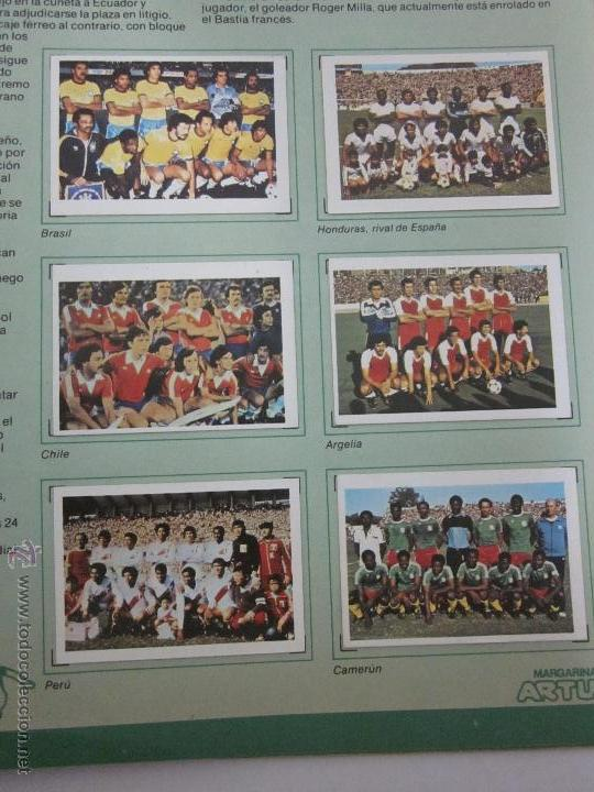 Coleccionismo deportivo: EL MUNDIAL DE ESPAÑA - ALBUM INCOMPLETO FALTAN 4 CROMOS - PUBLICIDAD MARGARINA ARTUA- (ALB-71) - Foto 6 - 41514393
