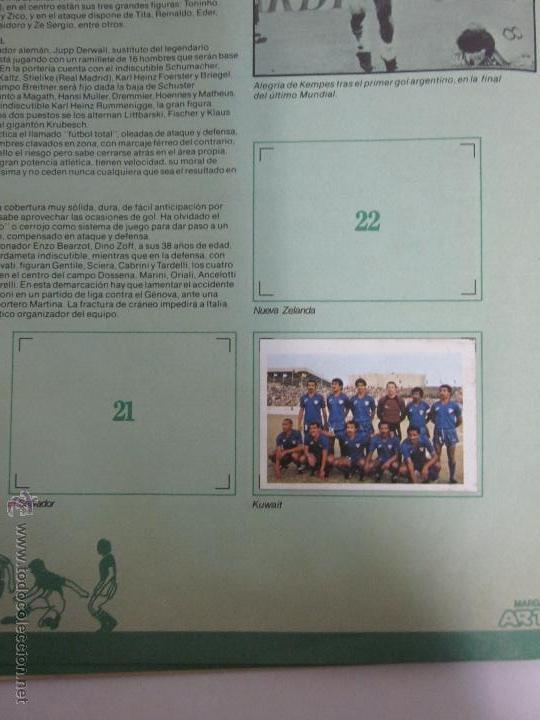 Coleccionismo deportivo: EL MUNDIAL DE ESPAÑA - ALBUM INCOMPLETO FALTAN 4 CROMOS - PUBLICIDAD MARGARINA ARTUA- (ALB-71) - Foto 7 - 41514393