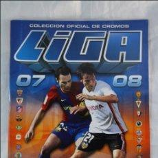 Coleccionismo deportivo: ÁLBUM CROMOS VACÍO/NUEVO - COLECCIÓN OFICIAL CROMOS LIGA FÚTBOL 2007-2008 - COLECC. ESTE/PANINI. Lote 41590196
