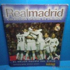 Coleccionismo deportivo: ALBUM DE CROMOS REAL MADRID - TEMPORADA 2000 - 2001 - PANINI. Lote 41622013