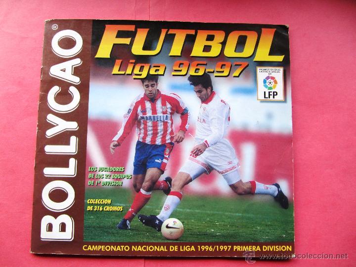 ÁLBUM INCOMPLETO.BOLLYCAO FÚTBOL LIGA 96 97. (Coleccionismo Deportivo - Álbumes y Cromos de Deportes - Álbumes de Fútbol Incompletos)