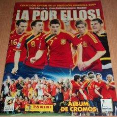 Coleccionismo deportivo: ÁLBUM CROMOS FÚTBOL ESPAÑA 2009 ¡A POR ELLOS! ÁLBUM INCOMPLETO. Lote 42373122
