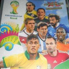 Coleccionismo deportivo: VERSION INT. ALBUM FICHERO ARCHIVADOR VACIO ADRENALYN CROMOS FIFA WORLD CUP BRAZIL BRASIL 2014 14. Lote 70582465