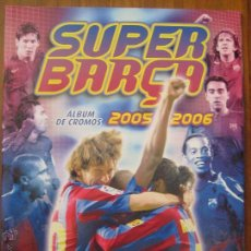Coleccionismo deportivo: ALBUM PLANCHA PANINI - SUPER BARÇA - FC BARCELONA 2005 2006 CON 36 CROMOS PEGADOS. Lote 42519122