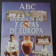 Coleccionismo deportivo: REAL MADRID. HISTORIA DE LAS 7 COPAS DE EUROPA. ABC, 1998. RUSTICA. 80 PAGINAS. ESTA CASI COMPLETO,. Lote 42675258