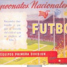 ALBUM CAMPEONATOS NACIONALES DE FUTBOL 1950-51 RUIZ ROMERO VACIO