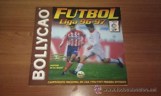 ALBUM BOLLYCAO FUTBOL 96 97 LIGA 1996 1997 CON 25 CROMOS PEGADOS - (Coleccionismo Deportivo - Álbumes y Cromos de Deportes - Álbumes de Fútbol Incompletos)